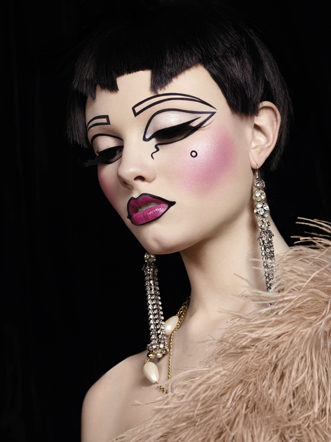 ToTN_Black wig_Pink lips_eyes closed